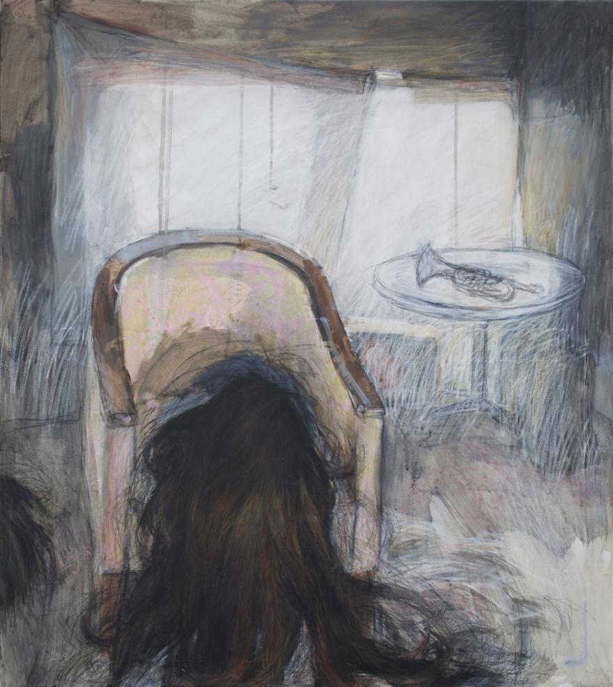 Title: vildtvoksende / Growing Wild 80 x 90 cm pris: 8 000 dkr