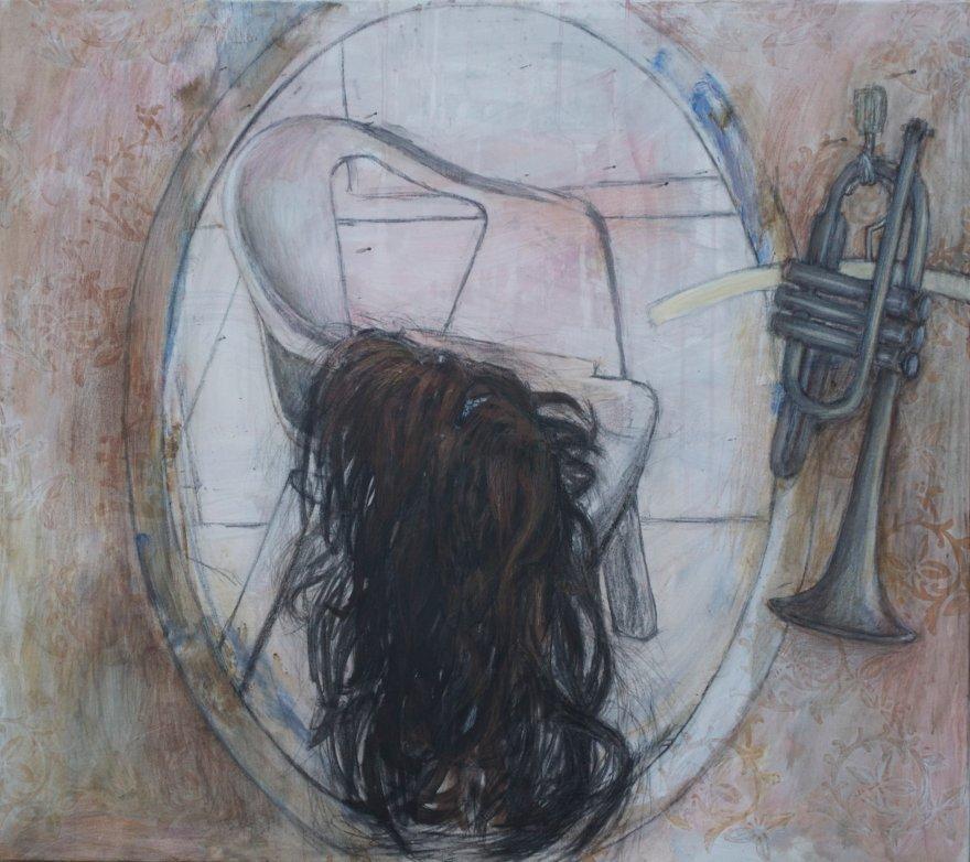 title: håret / the hair 80 x 90 cm pris: 8 000 DKR