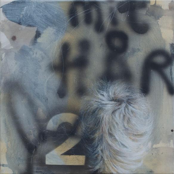 Title: Rudimentær. Hår 1/ Rudimentary. Hair 1. 30 x 30 cm Solgt /SOLD