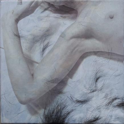 Rudimentær. Hår 3 ⌘ Rudimentary. Hair 3. 30 x 30 cm