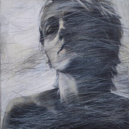 Rudimentær. Hår 4⌘ Rudimentary. Hair 4. 30 x 30 cm