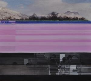A- photo jeg vil samle på fjeldtoppe/I want to collect on mountain tops 90 x 80 cm 8 000 dkr